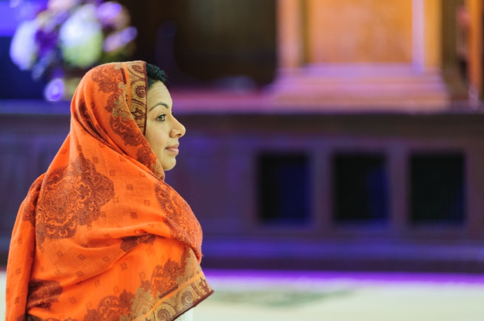 Farha Haq waits for Friday prayer to begin. Originally published online at Al Jazeera America.