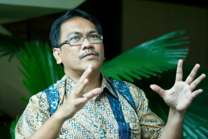 Irwan Hidayana at the University of Indonesia. (Diana Crandall/Globalpost)